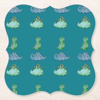 3 Little Dinos Paper Coaster