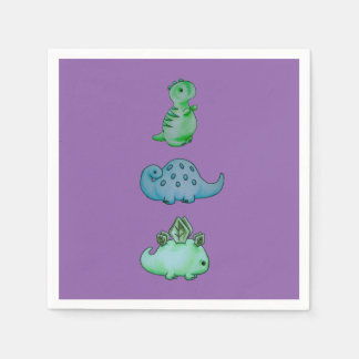 3 Little Dinos Paper Serviettes