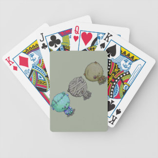 3 Little Monsters Bicycle Playing Cards