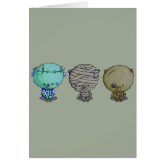 3 Little Monsters Card