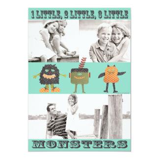 3 Little Monsters Halloween Card-TBO 13 Cm X 18 Cm Invitation Card