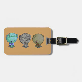 3 Little Monsters Luggage Tag