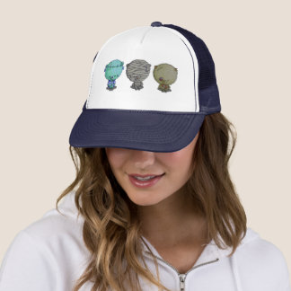 3 Little Monsters Trucker Hat