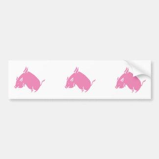 3 Little Pigs fly bumber sticker Bumper Sticker