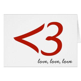 <3 = love (card) card