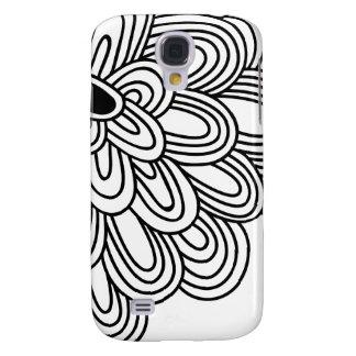 3 - Mod Black & White Flower Galaxy S4 Cover