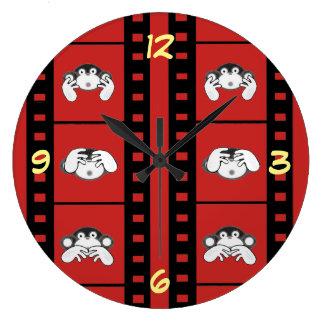 3 Monkey clock