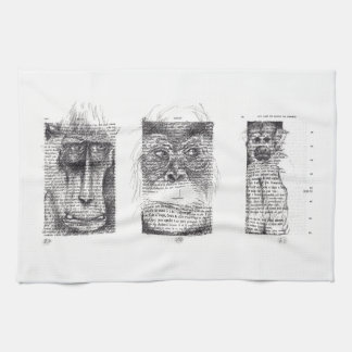 3 Monkeys for Monkey Year Zodiac Kitchen Towel