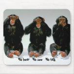 3 Monkeys Mousepad