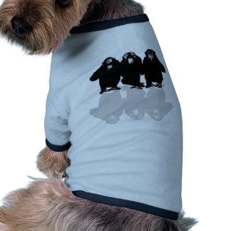 3 monkeys ringer dog shirt