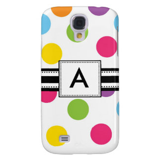 3 -Monogram Pink Polka Dots Samsung Galaxy S4 Cases