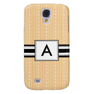 3 - Monogram Yellow Stripes Samsung Galaxy S4 Covers