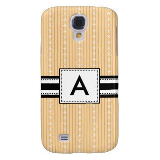 3 - Monogram Yellow Stripes Samsung Galaxy S4 Covers