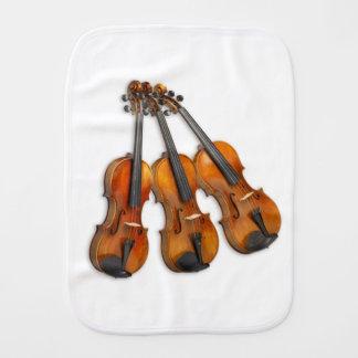 3 MUSICAL VIOLINS BURP CLOTH