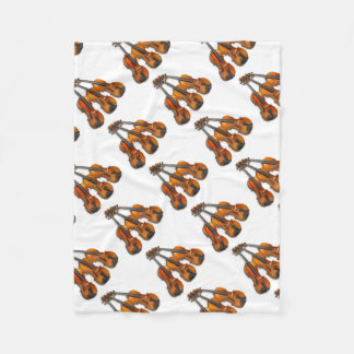 3 MUSICAL VIOLINS FLEECE BLANKET
