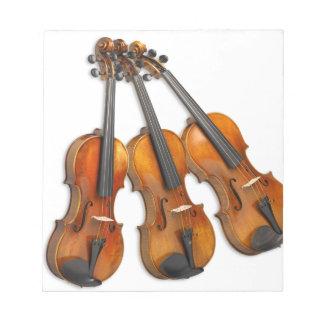 3 MUSICAL VIOLINS NOTEPAD