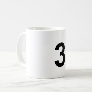 3 - number three coffee mug
