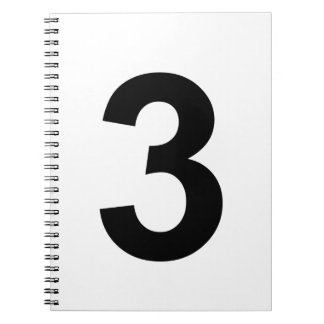 3 - number three spiral notebook