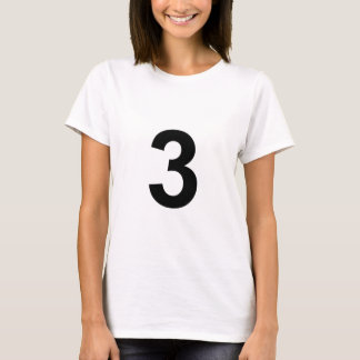 3 - number three T-Shirt