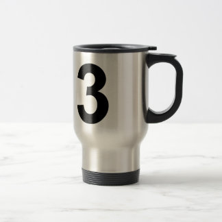 3 - number three travel mug