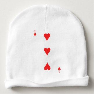 3 of Hearts Baby Beanie