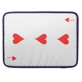 3 of Hearts Sleeve For MacBooks