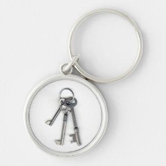 3 Old Keys Key Ring