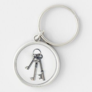 3 Old Keys Silver-Colored Round Key Ring