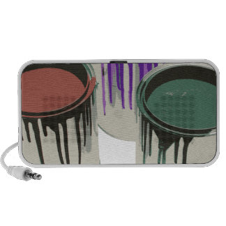 3-paint-gallons-red-purple portable speaker