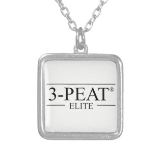 3-Peat Elite Charm Silver Plated Necklace