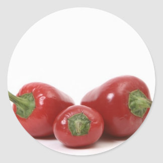 3 Peppers Classic Round Sticker