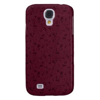 3 Pern Vintage Swirl Burgundy Samsung Galaxy S4 Cases