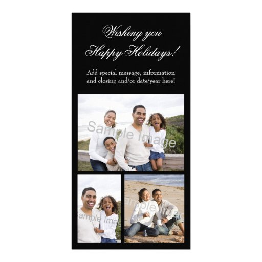 3-Photo Collage Holiday Photo Card
