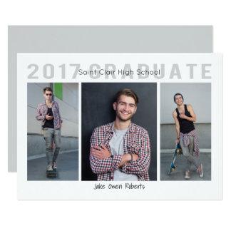 3 Photo Graduation Invitation