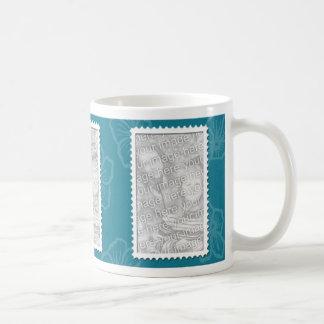 3 photo teal template coffee mug