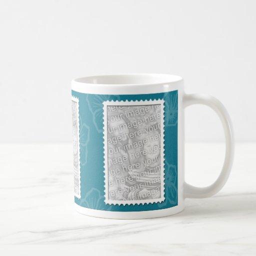 3 photo teal template coffee mugs