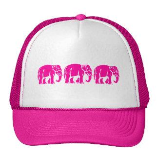 3 Pink Elephants ⚠ Thai Road Sign ⚠ Cap