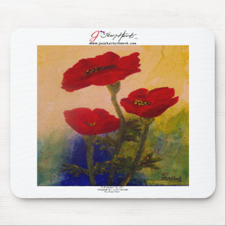 3 Poppies Mouse Pad