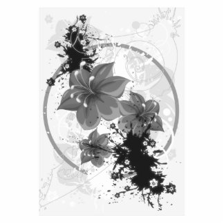 3 Pretty Flowers - B W Infrared Acrylic Cut Out