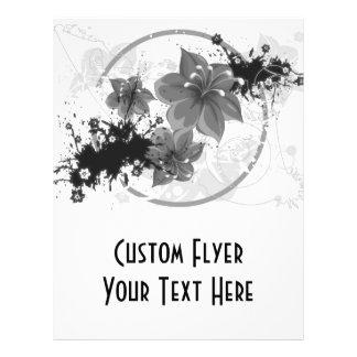 3 Pretty Flowers - B&W Infrared Custom Flyer