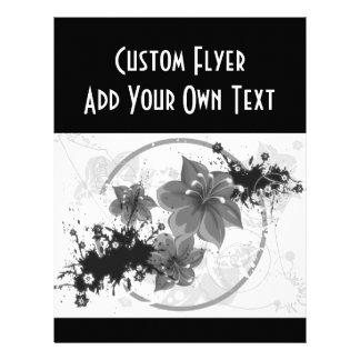 3 Pretty Flowers - B W Infrared Flyer Design