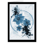 3 Pretty Flowers - Blue