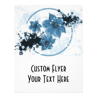 3 Pretty Flowers - Blue 21.5 Cm X 28 Cm Flyer