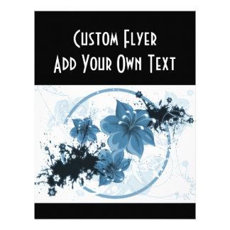 3 Pretty Flowers - Blue Flyer Design