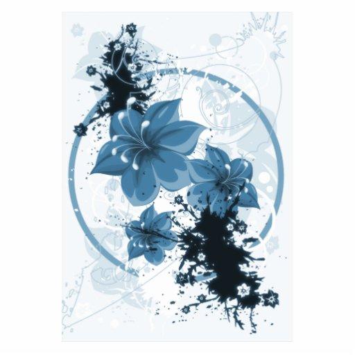 3 Pretty Flowers - Blue Acrylic Cut Out