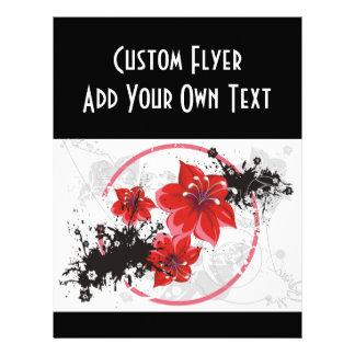 3 Pretty Flowers - Color 21.5 Cm X 28 Cm Flyer