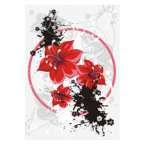 3 Pretty Flowers - Color Acrylic Cut Out