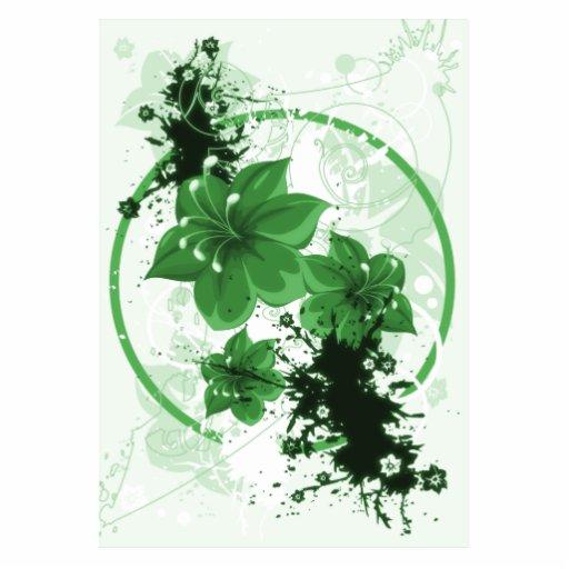 3 Pretty Flowers - Green Photo Sculpture