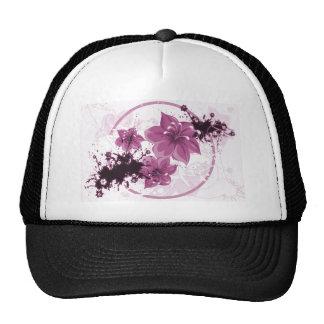 3 Pretty Flowers - Pink Cap