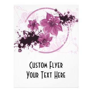 3 Pretty Flowers - Pink Flyer Design